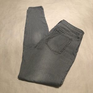 Gap Blue Striped  Legging Jeans Women's Size 10